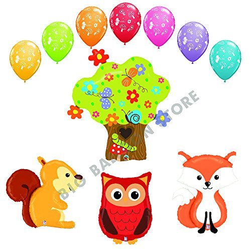 THE ULTIMATE 11pc Woodland Creatures Baby Shower / Birthday Balloon Decoration