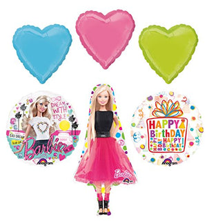 Barbie Birthday Party Supplies and Dream With Style Balloon Bouquet Decorations