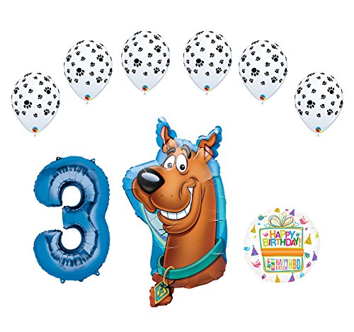 Mayflower Products Scooby Doo 3rd Birthday Party Supplies Balloon Bouquet Decorations