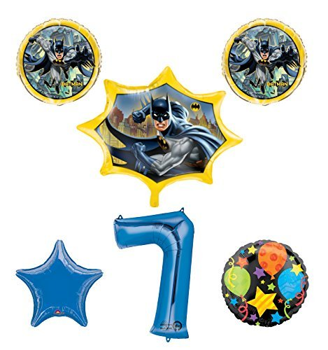New! Batman 7th Birthday Party Balloon Decorations and Supplies