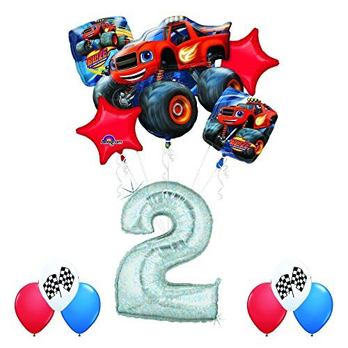 Blaze and the Monster Machines 2nd Birthday Balloon Decoration Kit by Anagram