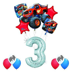 Blaze and the Monster Machines 3rd Birthday Balloon Decoration Kit by Anagram
