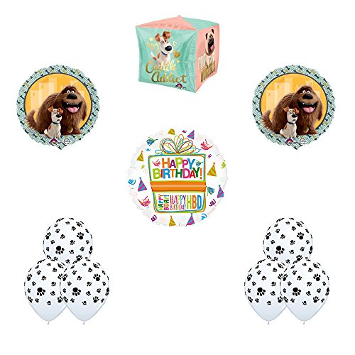 The Secret Life of Pets 10pc Paw Print Latex Birthday Party Balloon Decorations