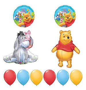 Winnie The Pooh And Friends 10pc Birthday Party Balloons Decorations by Anagram