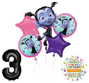 Mayflower Products Vampirina 3rd Birthday Balloon Bouquet Decorations and Party Supplies
