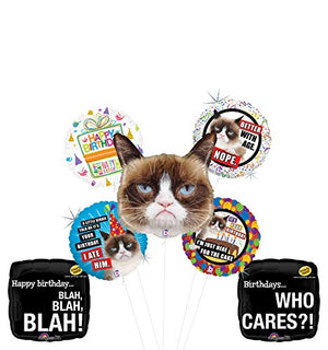 Grumpy Cat Birthday Party Supplies Who Cares Balloon Bouquet Decorations