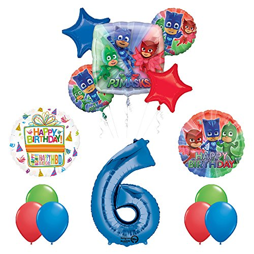 The Ultimate PJ MASKS 6th Birthday Party Supplies and Balloon decorations
