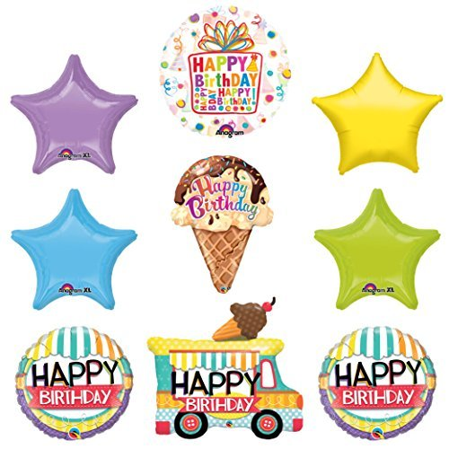 Ice Cream Chocolate Sugar Cone Birthday Party Supplies Decoration Balloon Kit