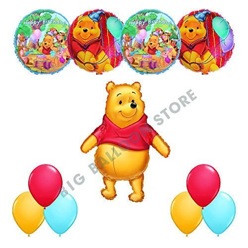Winnie The Pooh And Friends HAPPY BIRTHDAY Party 11pc Balloon Birthday Kit