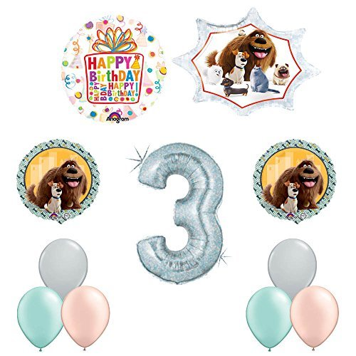 The Secret Life of Pets 3rd Holographic Birthday Party Balloon Supply Decorations