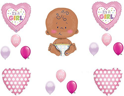 "IT'S A GIRL 24"" CELEBRATE BABY SHOWER Balloons Decorations Supplies"