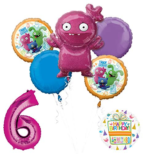 Mayflower Products Ugly Dolls 6th Birthday Party Supplies 34