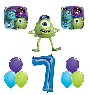The Ultimate Monsters University Monsters Inc 7th Birthday Party Supplies and Balloon Decorations