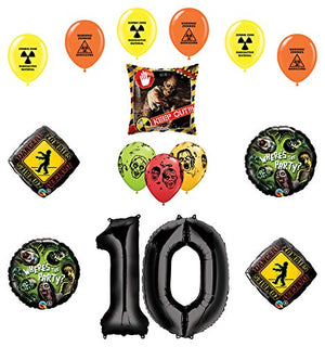 Mayflower Products Zombies Party Supplies 10th Birthday The Walking Dead Balloon Bouquet Decorations