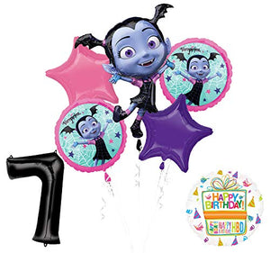 Mayflower Products Vampirina 7th Birthday Balloon Bouquet Decorations and Party Supplies