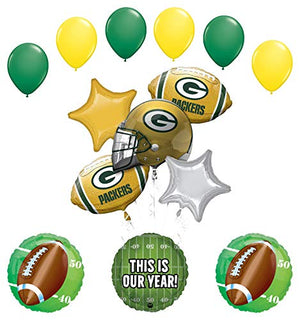 Mayflower Products Green Bay Packers Football Party Supplies This is Our Year Balloon Bouquet Decoration