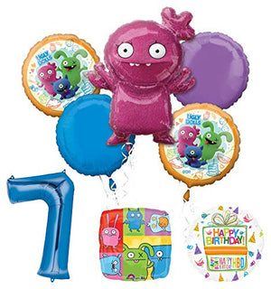 Mayflower Products Ugly Dolls Party Supplies 7th Birthday Balloon Bouquet Decorations