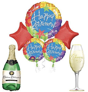 "Retirement Party Supplies and Balloon Bouquet Decoration Kit ""CHEERS"""