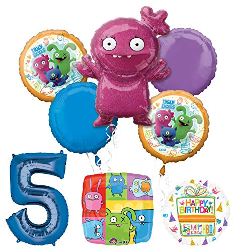 Mayflower Products Ugly Dolls Party Supplies 5th Birthday Balloon Bouquet Decorations