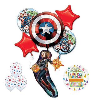 Mayflower Products The Ultimate Avengers Captain Marvel Birthday Party Supplies and Balloon Decorations