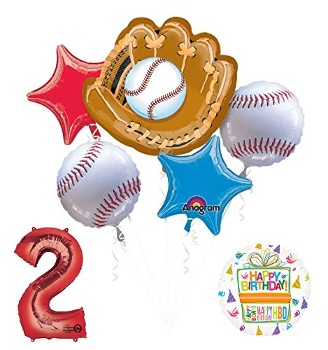 Baseball 2nd Birthday Party Supplies