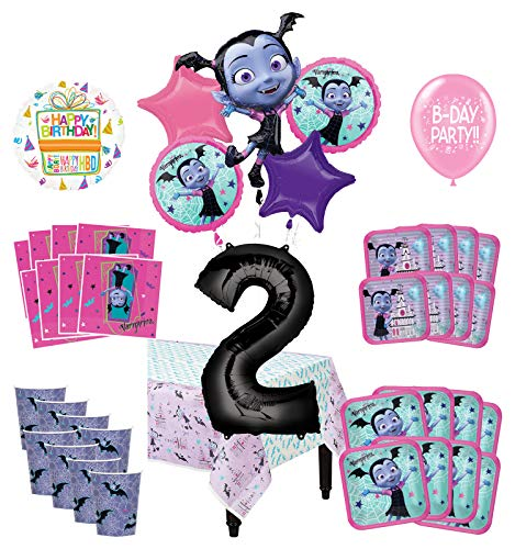 Mayflower Products Vampirina 2nd Birthday Party Supplies 8 Guest Decoration Kit and Balloon Bouquet