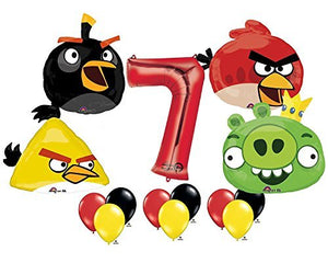 The Ultimate Angry Birds 7th Birthday Party Supplies and Balloon Decorations