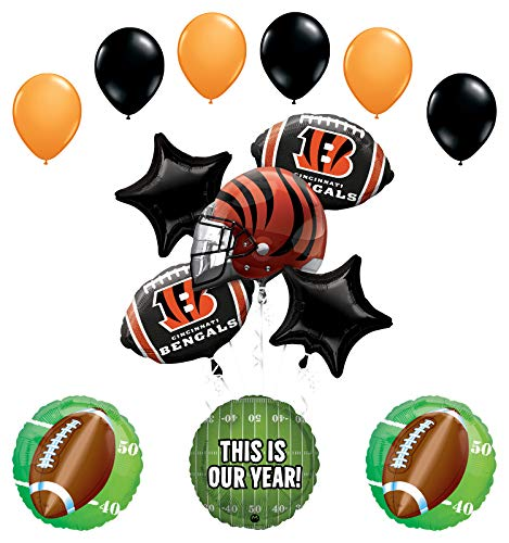 Mayflower Products Cincinnati Bengals Football Party Supplies This is Our Year Balloon Bouquet Decoration