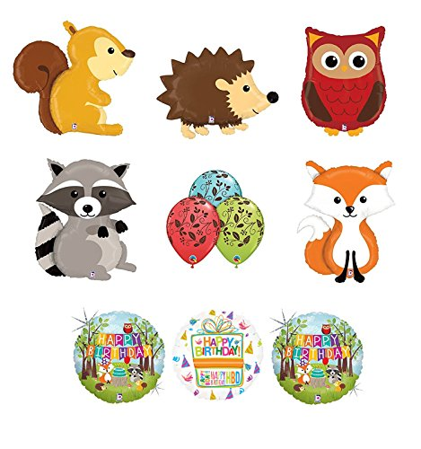 Woodland Creatures Birthday Party Supplies Baby Shower Balloon Bouquet Decorations