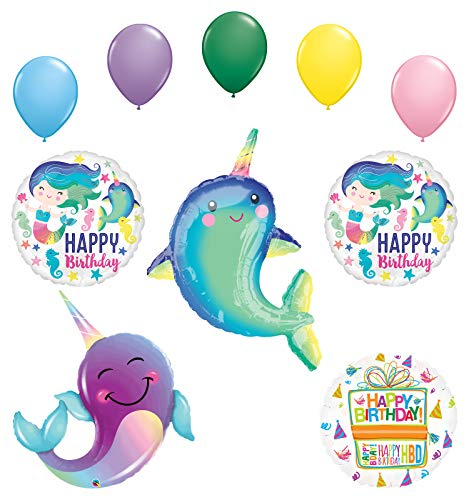 Mayflower Products Narwhal Party Supplies Birthday Celebration Balloon Bouquet Decorations
