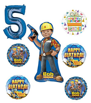 Bob The Builder Construction 5th Birthday Party Supplies and Balloon Decorations