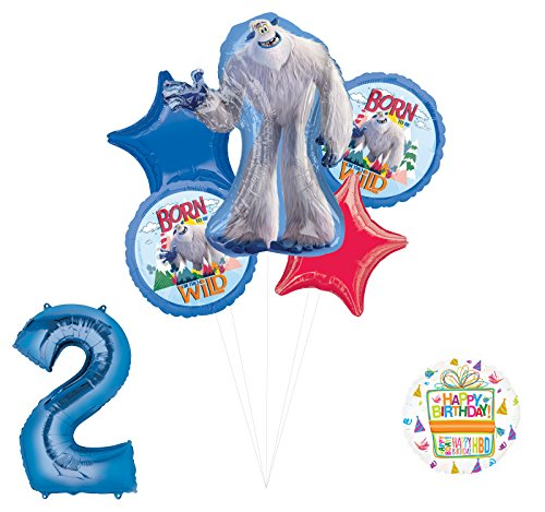 Smallfoot 2nd Birthday Balloon Bouquet Decorations and Party Supplies