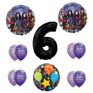 Disney The Descendants 6th Happy Birthday Party supplies Balloon Decoration Kit