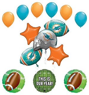 Mayflower Products Miami Dolphins Football Party Supplies This is Our Year Balloon Bouquet Decoration