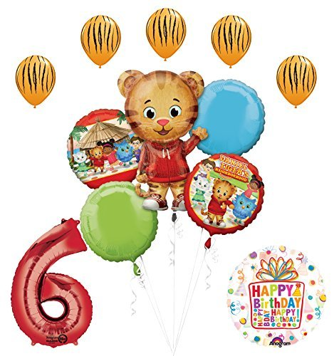 The Ultimate Daniel Tiger Neighborhood 6th Birthday Party Supplies and Balloon Decorations