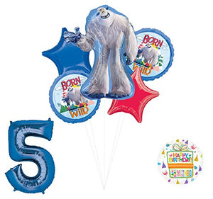 Smallfoot 5th Birthday Balloon Bouquet Decorations and Party Supplies