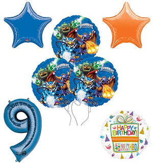 Skylanders 9th Birthday Party Supplies and Balloon Decoration Bouquet Kit
