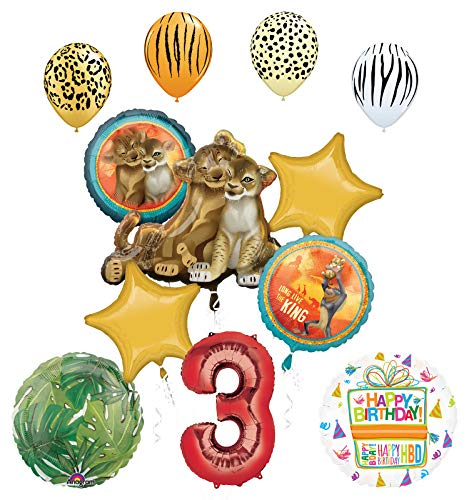 Lion King Party Supplies 3rd Birthday Balloon Bouquet Decorations