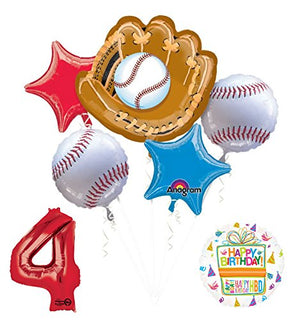 Baseball 4th Birthday Party Supplies