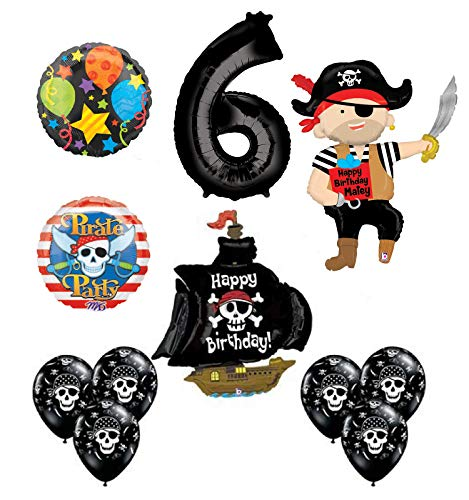 Mayflower Products Pirate 6th Birthday Party Supplies Balloon Bouquet Decorations