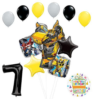Transformers Mayflower Products Bumblebee 7th Birthday Party Supplies Balloon Bouquet Decorations