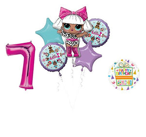 LOL Party Supplies 7th Birthday Balloon Bouquet Decorations