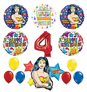 Mayflower Products Wonder Woman 4th Birthday Party Supplies and Balloon Decorations