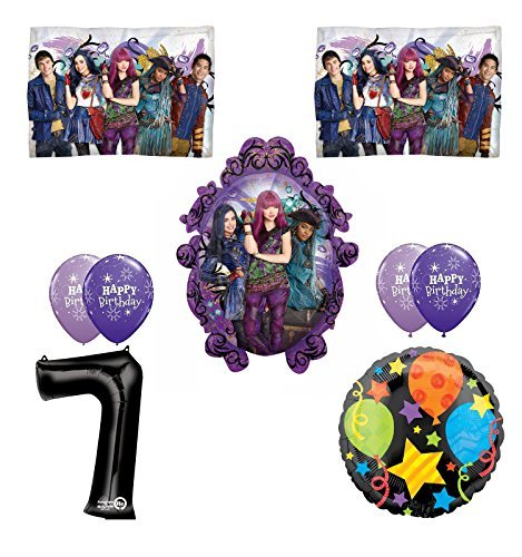 Disney The Descendants 2 Happy 7th Birthday Party supplies Balloon Decoration Kit