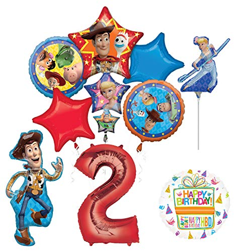 Mayflower Products Toy Story Party Supplies Woody and Friends 2nd Birthday Balloon Bouquet Decorations