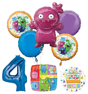 Mayflower Products Ugly Dolls Party Supplies 4th Birthday Balloon Bouquet Decorations