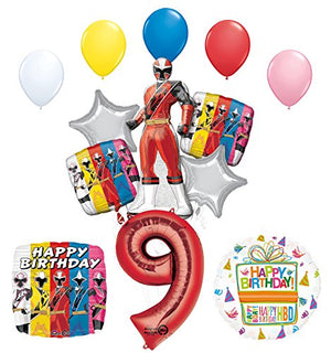 The Ultimate Power Rangers Ninja Steel 9th Birthday Party Supplies and Balloon Decorations