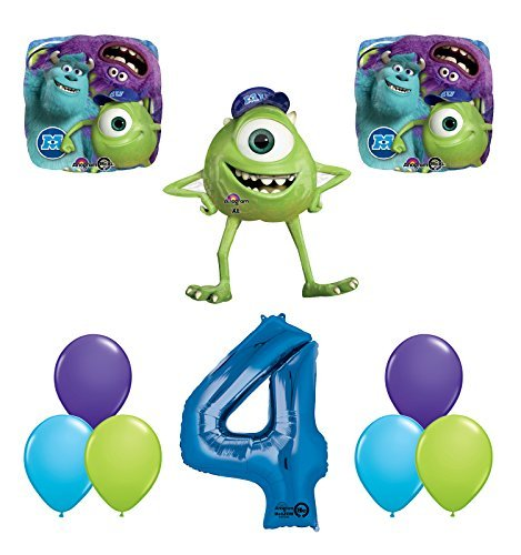 The Ultimate Monsters University Monsters Inc 4th Birthday Party Supplies and Balloon Decorations