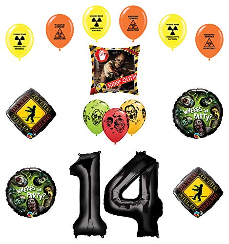 Mayflower Products Zombies Party Supplies 14th Birthday The Walking Dead Balloon Bouquet Decorations