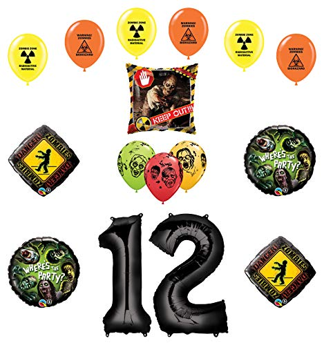 Mayflower Products Zombies Party Supplies 12th Birthday The Walking Dead Balloon Bouquet Decorations